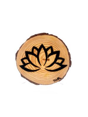 rodaja pirograbada flor de loto